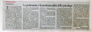 rticolo professione professionalita psicologo 2017.08.10