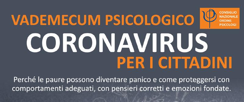 Banner Vademecum Psicologico Cornavirus per i Cittadini